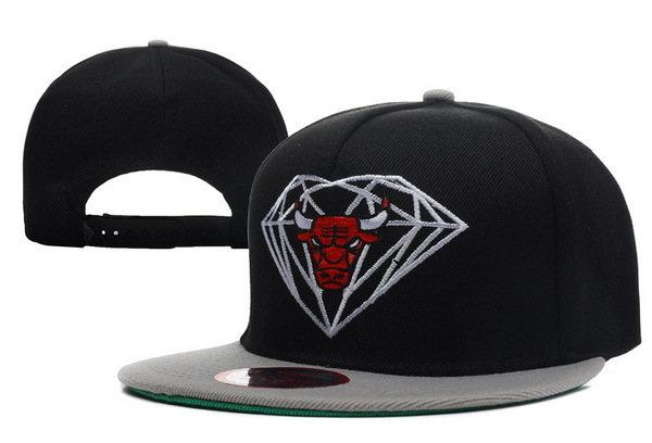 Diamond Bull Black Snapback Hat XDF1 0512